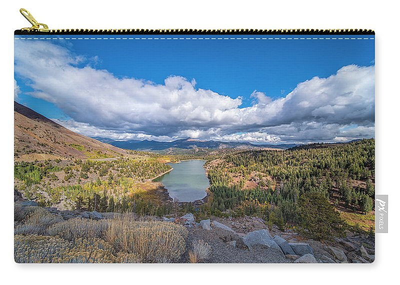 Lake Carry-all Pouch featuring the photograph Red Lake by Jonathan Hansen