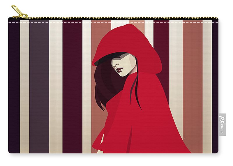 Red Riding Hood Carry-all Pouch featuring the digital art Red Riding Hood by Hannah Coley