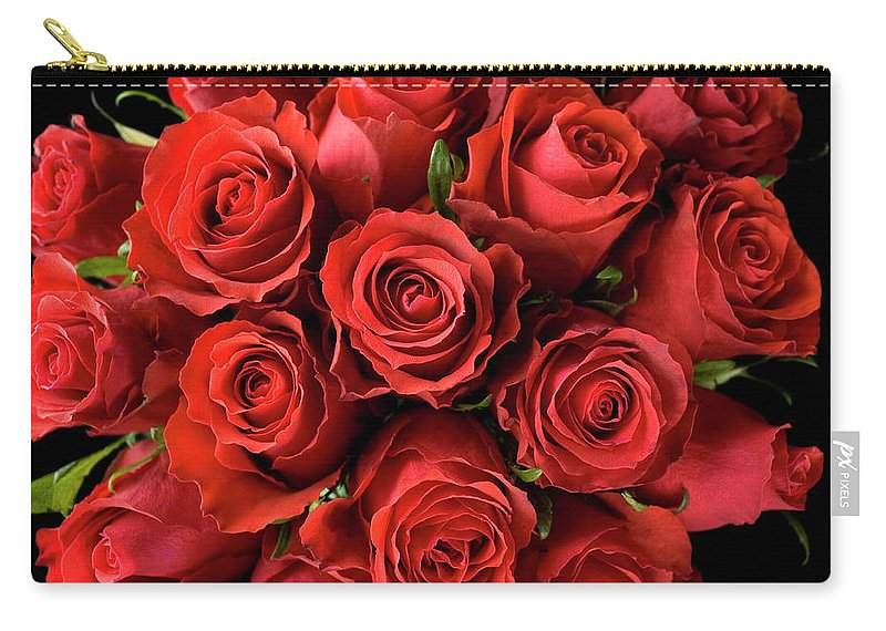Event Carry-all Pouch featuring the photograph Red Roses by Malerapaso