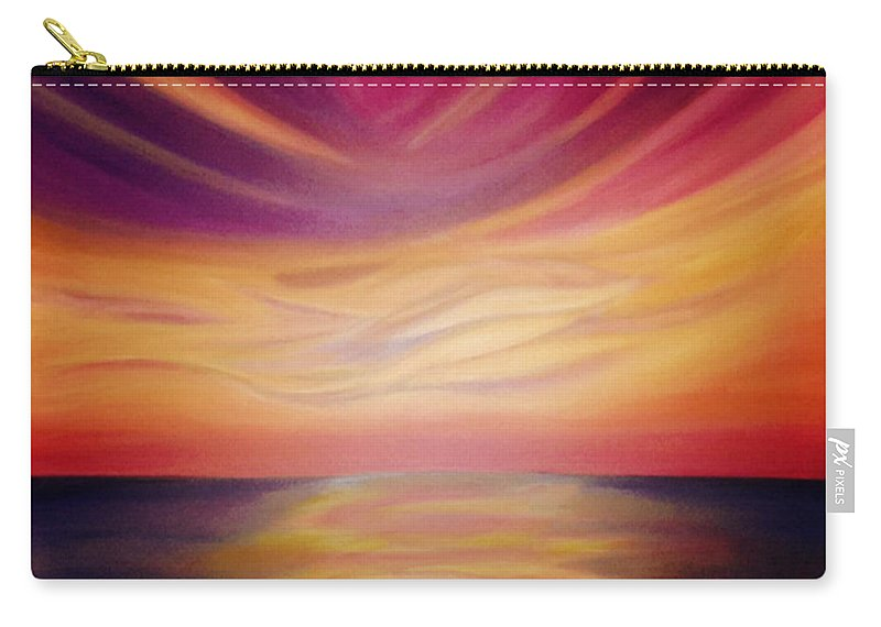 Jai Adams Carry-all Pouch featuring the painting Red Sky Sunset by Jai Adams