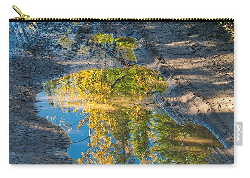 Reflections Of The Fall Carry-all Pouch featuring the photograph Reflections Of The Fall by Cathy Mahnke