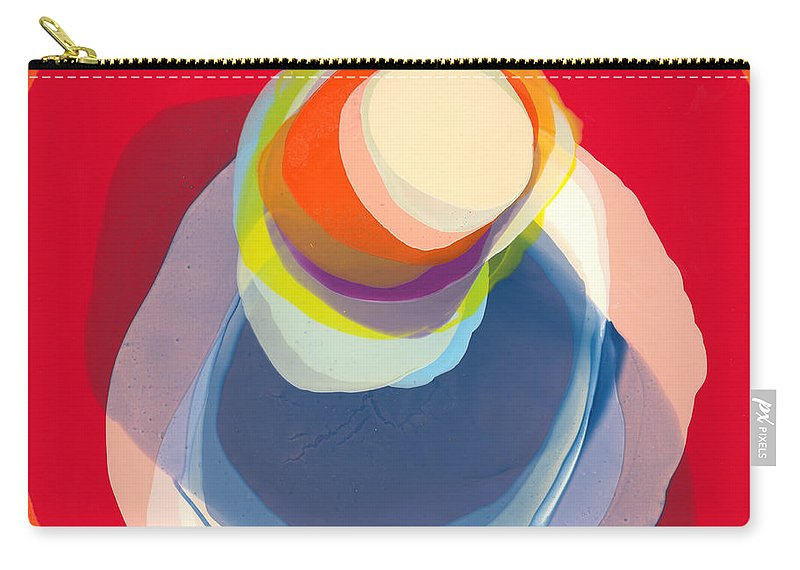 Abstract Carry-all Pouch featuring the painting Reflective by Claire Desjardins