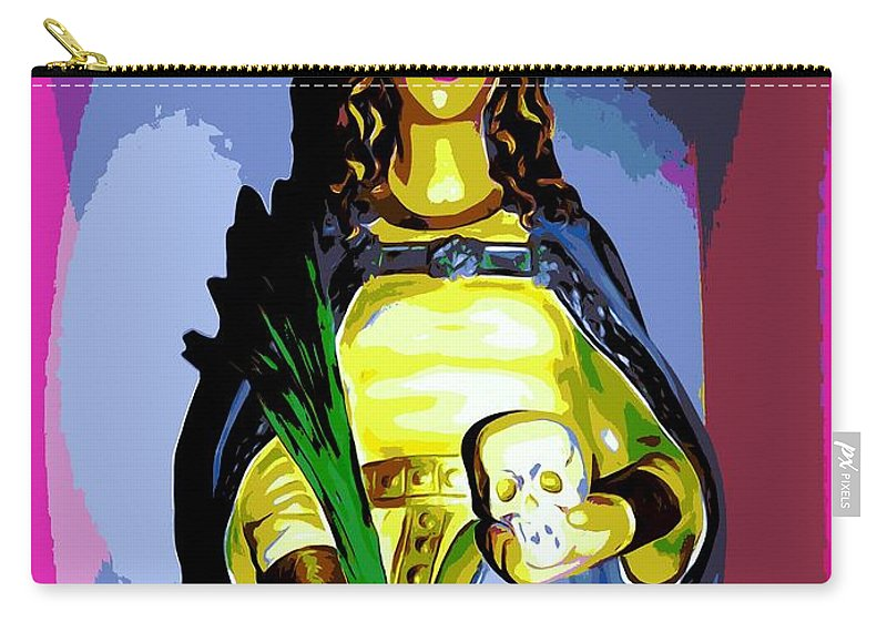 Digital Art Carry-all Pouch featuring the digital art Religious Vision by Ed Weidman