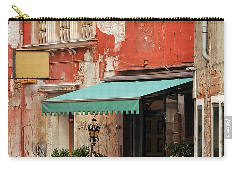 Empty Carry-all Pouch featuring the photograph Restaurant In Venice by Mammuth