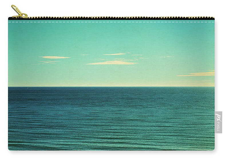 Scenics Carry-all Pouch featuring the photograph Retro Seascape Postcard by Farukulay