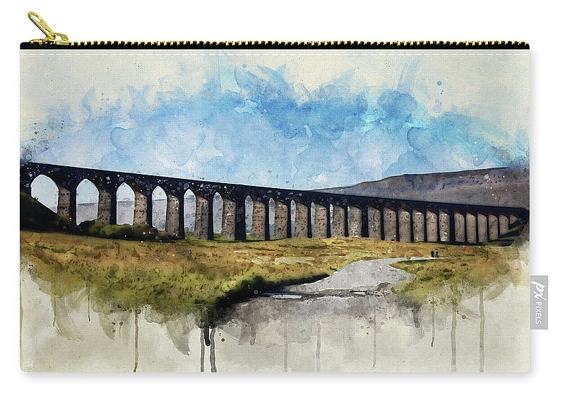 Viaduct Carry-all Pouch featuring the photograph Ribblehead Viaduct by David Ridley