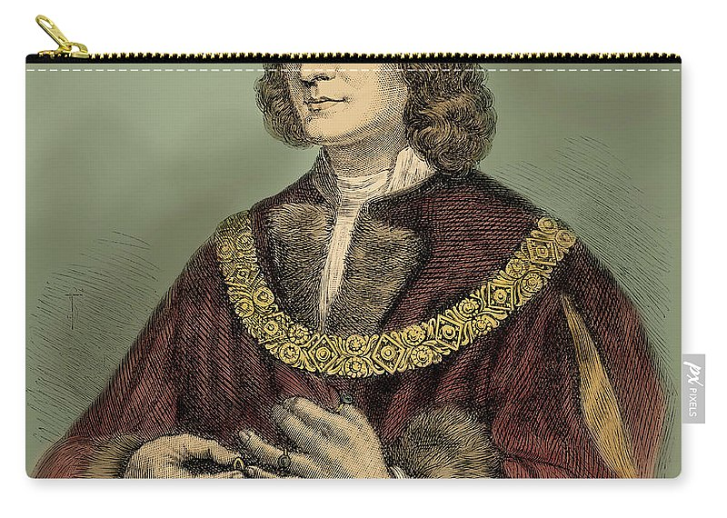 15th Century Carry-all Pouch featuring the drawing Richard IIi Of England Portrait by English School