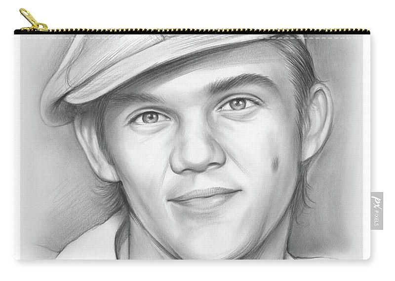 Richard Thomas Carry-all Pouch featuring the drawing Richard Thomas by Greg Joens