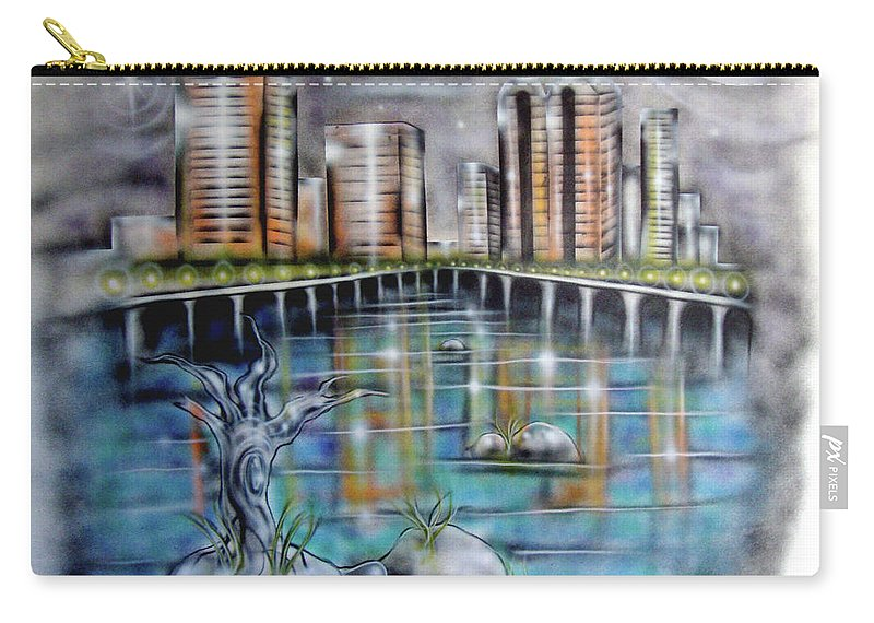 Richmond Carry-all Pouch featuring the painting Richmond Va by Leigh Odom
