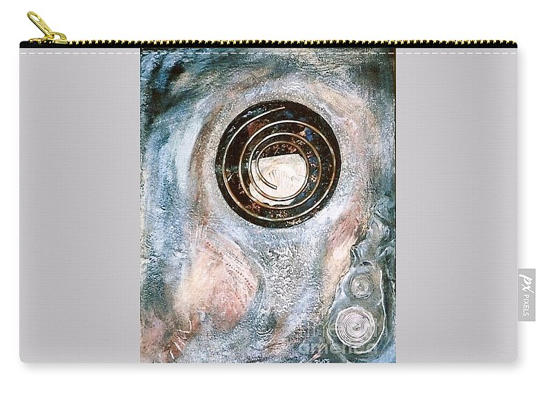 Acrylic Paint Carry-all Pouch featuring the mixed media Riddle Within A Foible by Robert Wade
