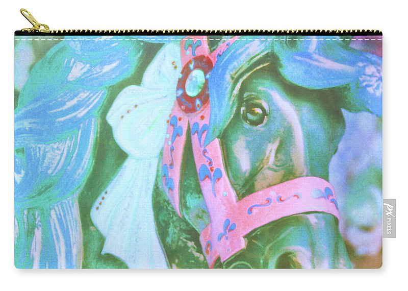 Horse Carry-all Pouch featuring the photograph Ride Of Old Blues by JAMART Photography
