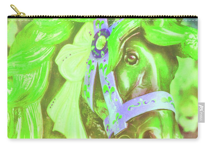 Horse Carry-all Pouch featuring the photograph Ride Of Old Greens by JAMART Photography