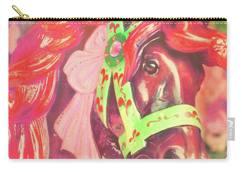 Horse Carry-all Pouch featuring the photograph Ride Of Old Pinks by JAMART Photography