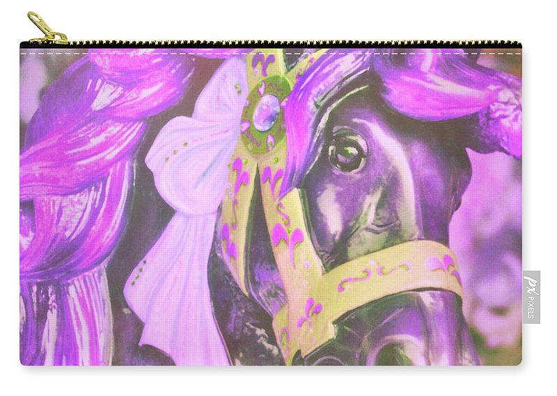 Horse Carry-all Pouch featuring the photograph Ride Of Old Purples by JAMART Photography