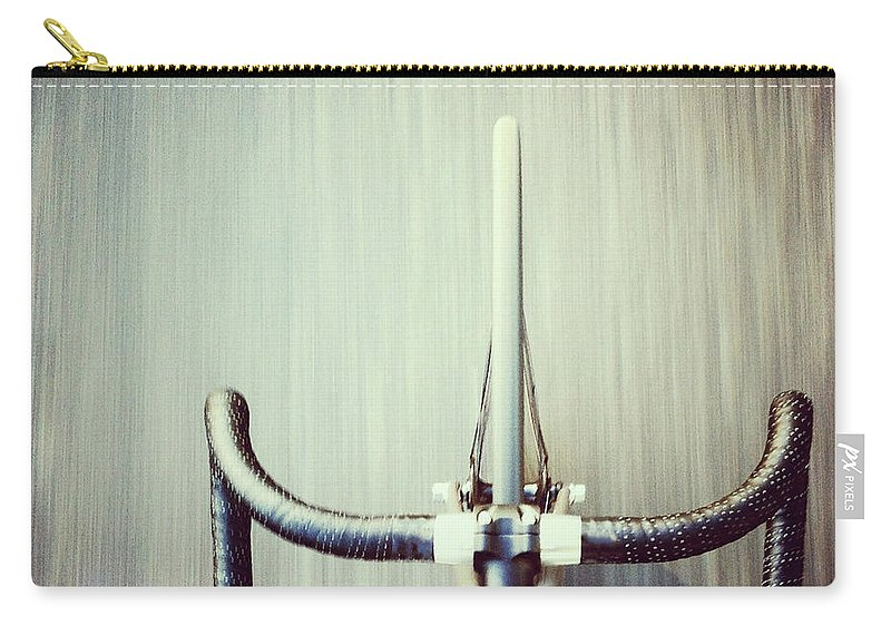 San Francisco Carry-all Pouch featuring the photograph Riding Bicycle by Joey Celis