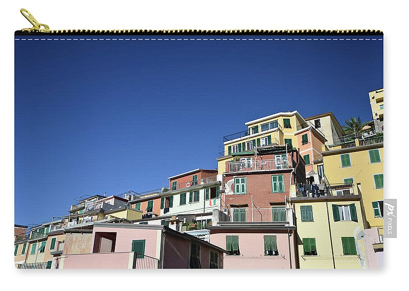 Empty Carry-all Pouch featuring the photograph Riomaggiore by Eduleite