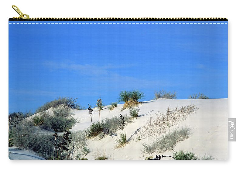 Background Carry-all Pouch featuring the photograph Rippled Sand Dunes In White Sands National Monument, New Mexico - Newm500 00106 by Kevin Russell
