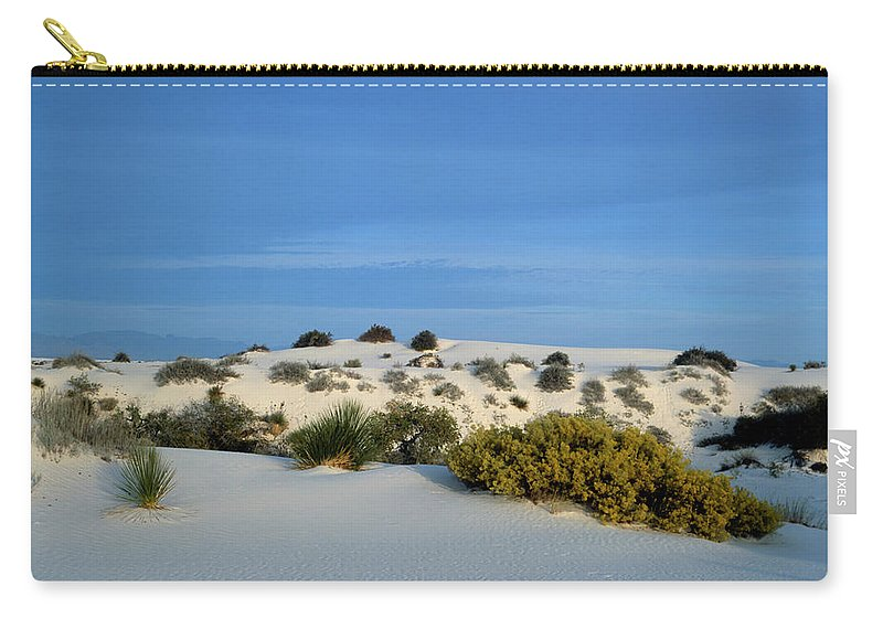 Background Carry-all Pouch featuring the photograph Rippled Sand Dunes In White Sands National Monument, New Mexico - Newm500 00114 by Kevin Russell