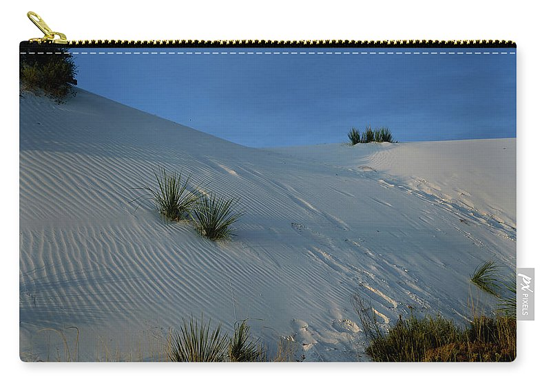 Desert Carry-all Pouch featuring the photograph Rippled Sand Dunes In White Sands National Monument, New Mexico - Newm500 00118 by Kevin Russell