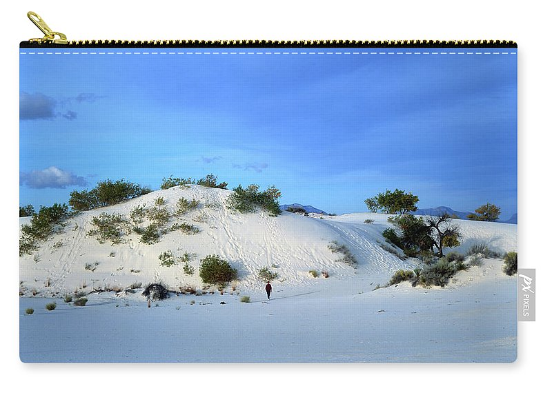 Background Carry-all Pouch featuring the photograph Rippled Sand Dunes In White Sands National Monument, New Mexico - Newm500 00119 by Kevin Russell