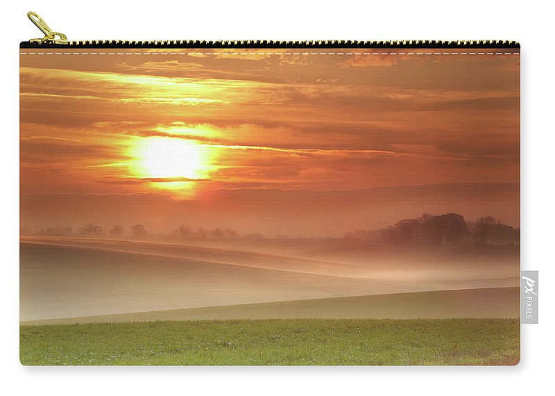 Tranquility Carry-all Pouch featuring the photograph Ripples In Mist by Andy Freer