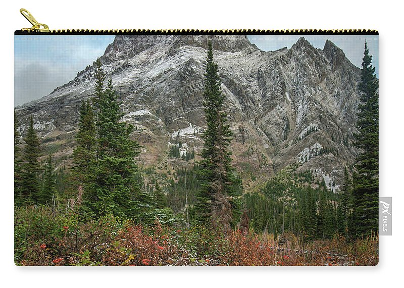 00575365 Carry-all Pouch featuring the photograph Rising Wolf Mountain, Glacier National by Tim Fitzharris