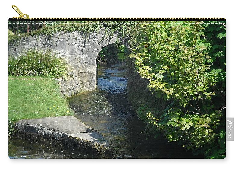 Ireland Carry-all Pouch featuring the photograph Rivers Merging by John Hughes