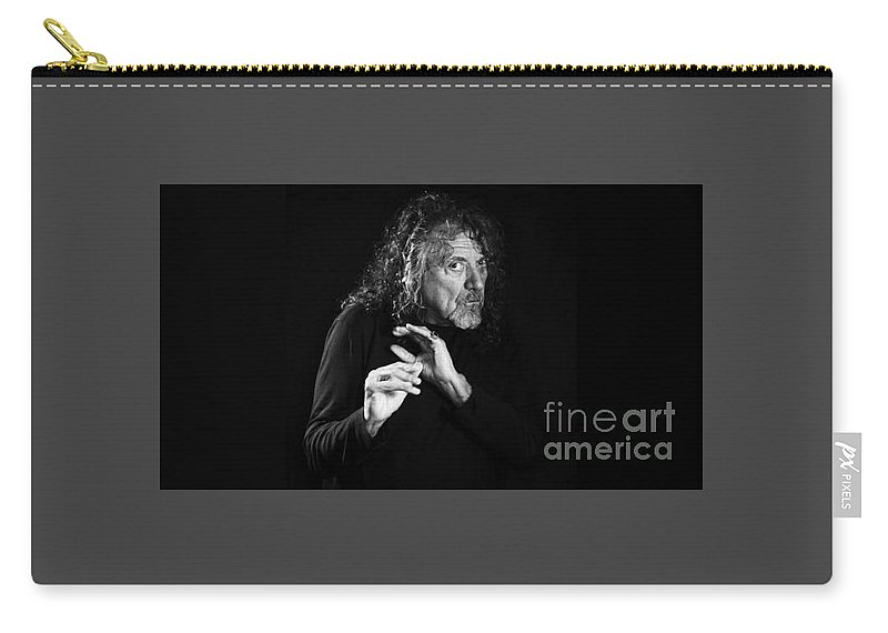 Robert Plant . Led Zeppelin.  Carry-all Pouch featuring the photograph Robert Plant by Jd Bearden