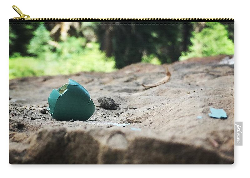 Robin Eggs Carry-all Pouch featuring the photograph Robin Egg by Kate Toner-Antoniazzi