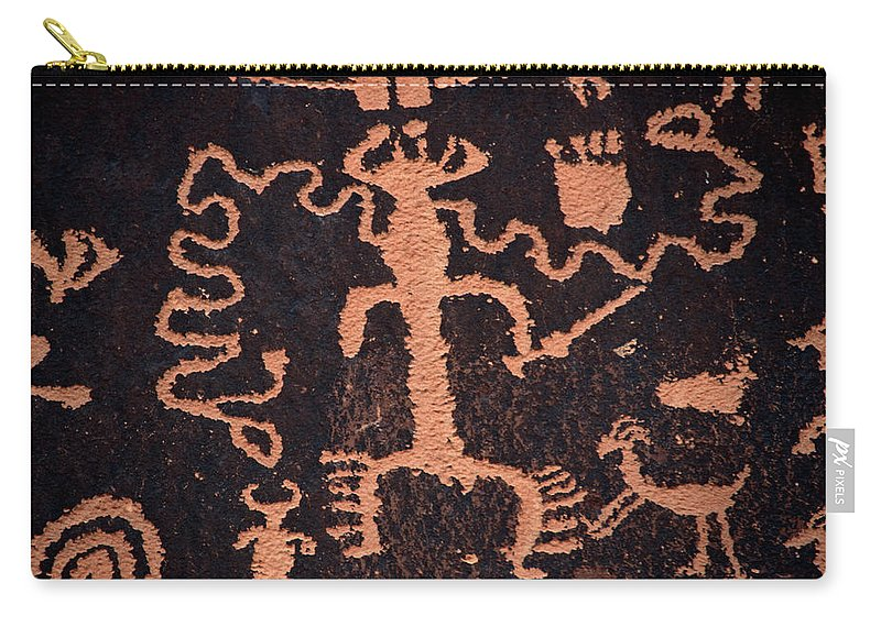 Outdoors Carry-all Pouch featuring the photograph Rock Art by Mark Newman