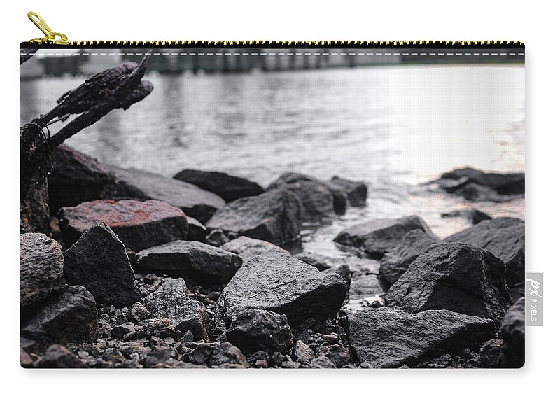 Sunset Carry-all Pouch featuring the photograph Rock Bridge by Victoria Williams