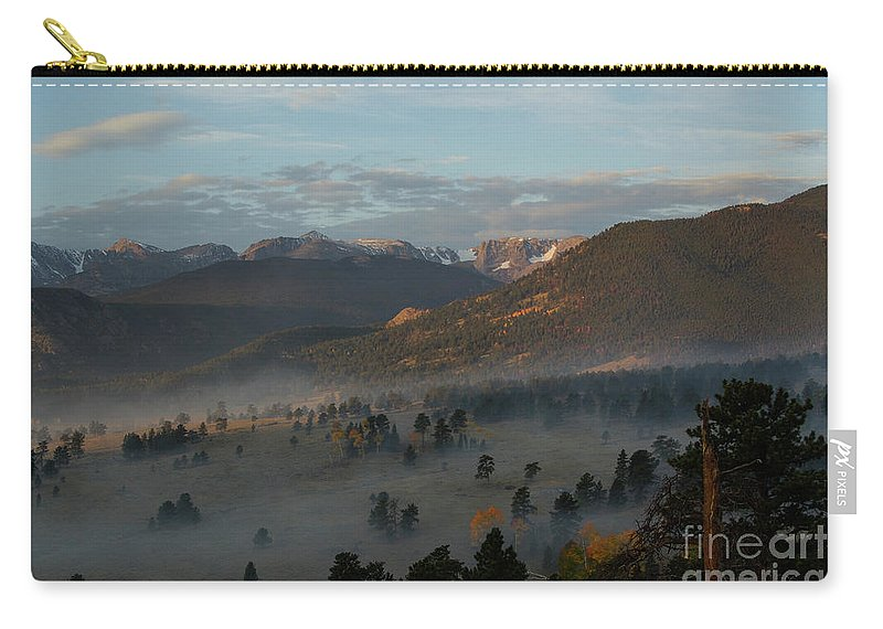 Clouds Carry-all Pouch featuring the photograph Rocky Mountain National Park - 2246-2 by Jerry Owens