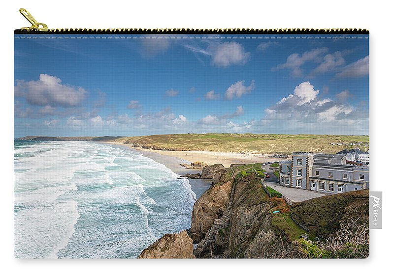Hotel Carry-all Pouch featuring the photograph Rolling Waves by Nigel Martin