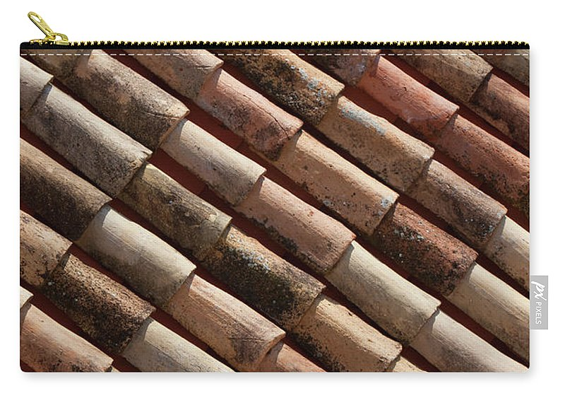 In A Row Carry-all Pouch featuring the photograph Rooftop In Dubrovnik Old Town by Martin Child