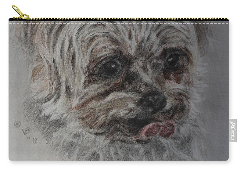 Yorkshire Terrier Carry-all Pouch featuring the painting Rosie by Vera Smith