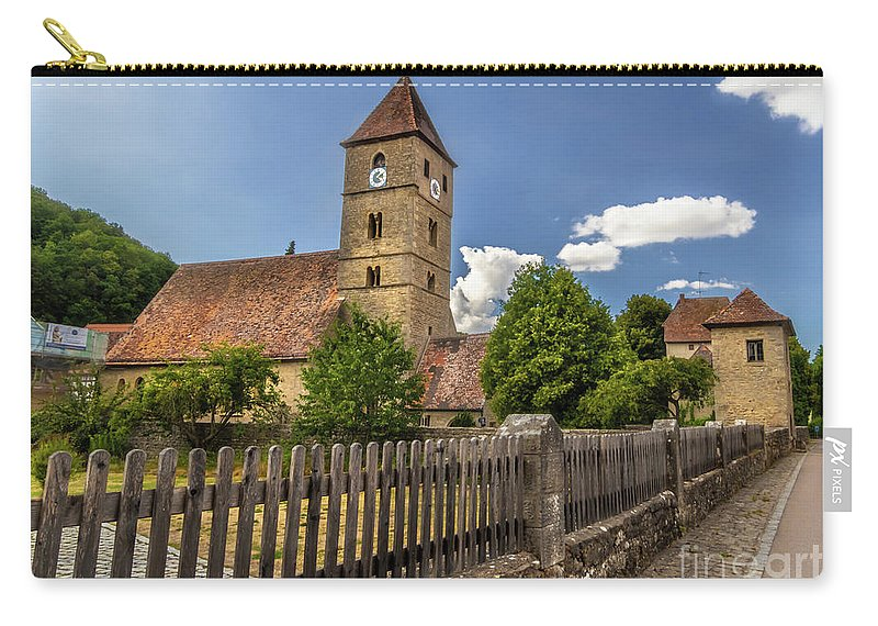 Rothenburg Carry-all Pouch featuring the photograph Rothenburg Ob Tauber Church by Norma Brandsberg