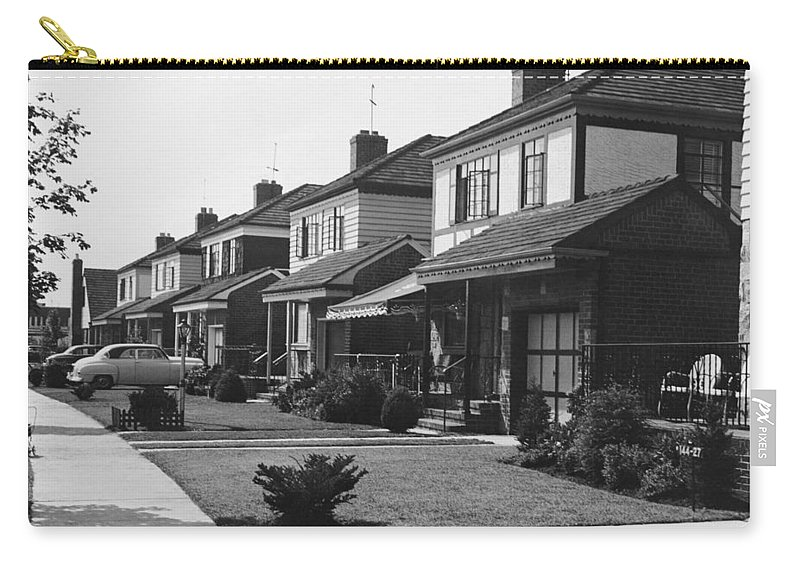 1950-1959 Carry-all Pouch featuring the photograph Row Of Houses by George Marks