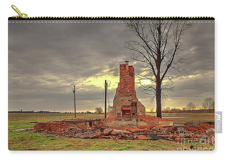 Explore Carry-all Pouch featuring the photograph Rubble by Larry Braun