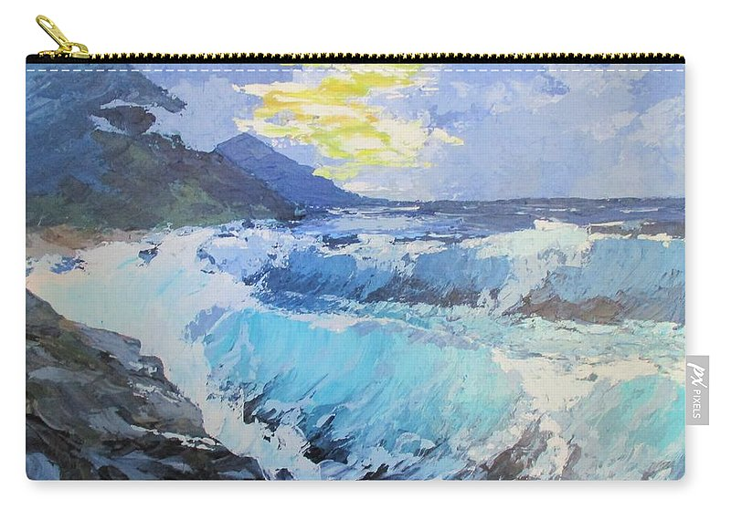 Seascape Carry-all Pouch featuring the painting Ruckkehrunruhe by Angela Grey