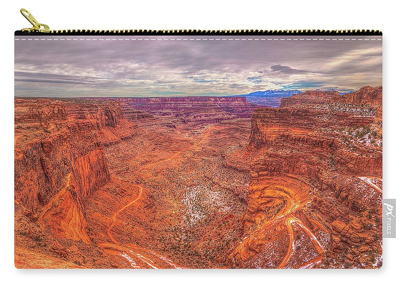 Utah Carry-all Pouch featuring the photograph Rugged Trails by Three 20 Arts