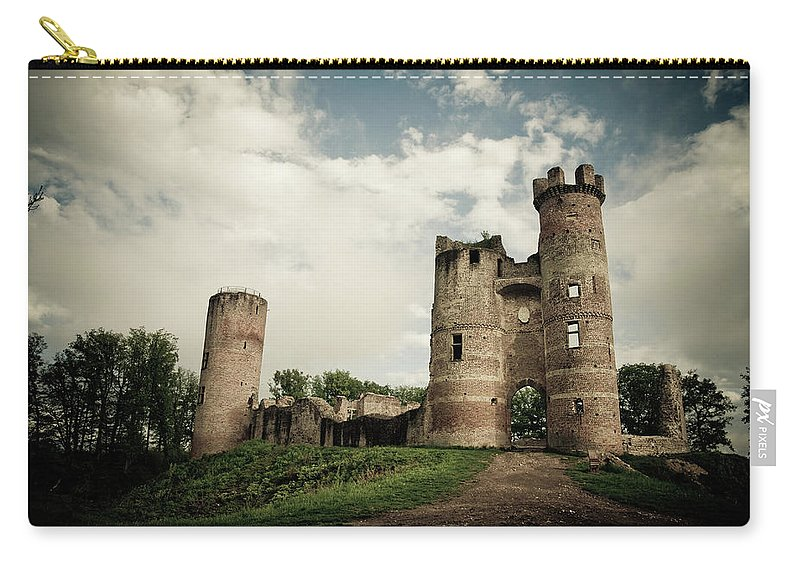 Horror Carry-all Pouch featuring the photograph Ruined Castle by Mmac72