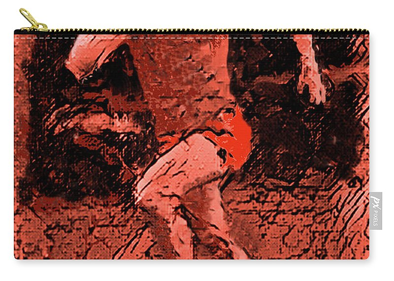 Runner Carry-all Pouch featuring the digital art Runner 2 by Digital Painting