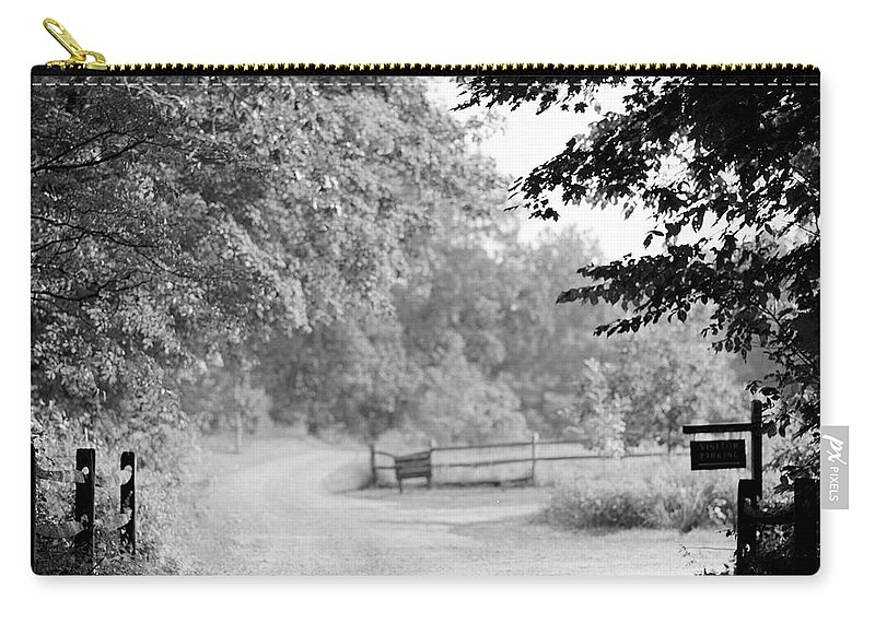 Tranquility Carry-all Pouch featuring the photograph Rural Dirt Road In New England by Adam Garelick