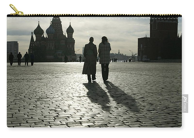 Shadow Carry-all Pouch featuring the photograph Russia, Moscow, Red Square, Silhouette by Will & Deni Mcintyre