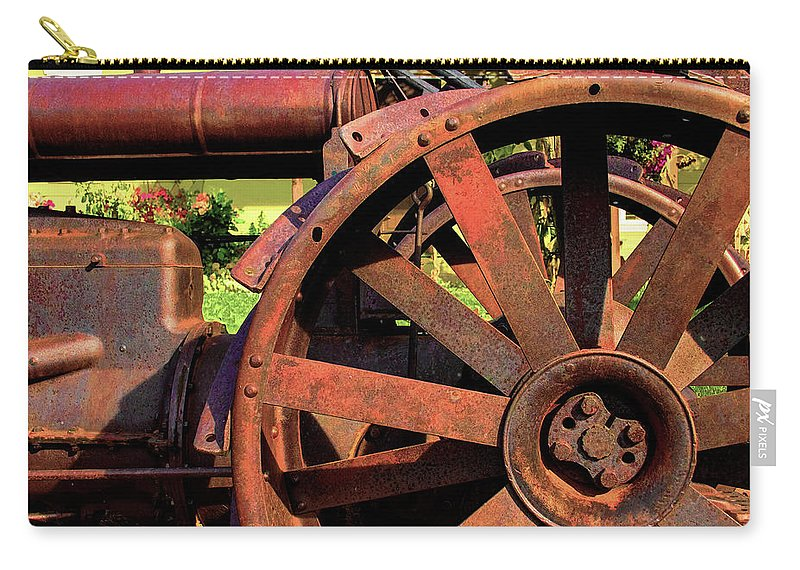 Tractor Carry-all Pouch featuring the photograph Rusty by Richard Gripp