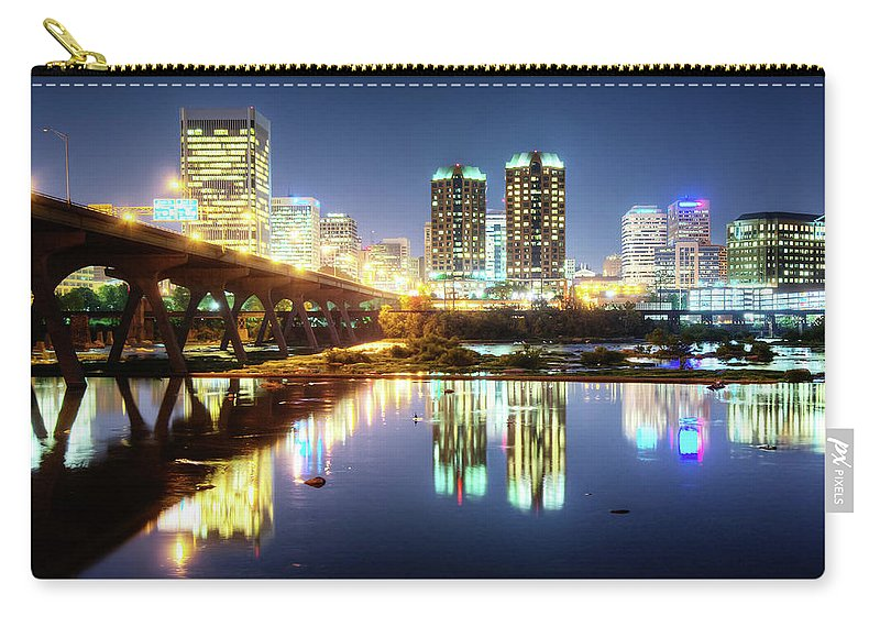 Tranquility Carry-all Pouch featuring the photograph Rva Summer Night - Richmond Va On The by Sky Noir Photography By Bill Dickinson