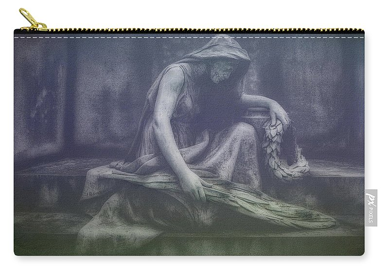 Cemetery Carry-all Pouch featuring the photograph Sadness And Sorrow by Tom Mc Nemar