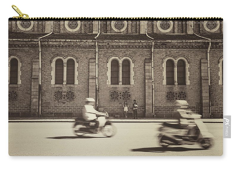 Ho Chi Minh City Carry-all Pouch featuring the photograph Saigon Old Corner by Jethuynh