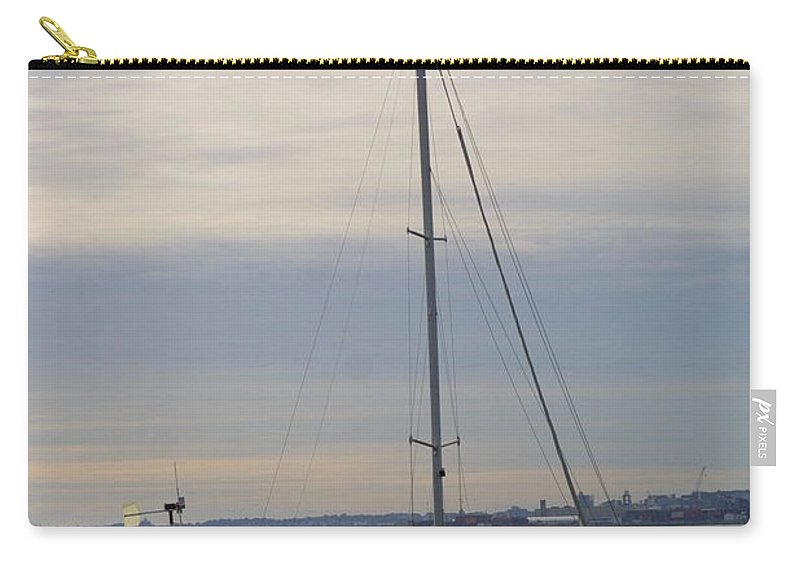 Sailboat Carry-all Pouch featuring the photograph Sailboat In The Bay Area by Darren Dwayne Frazier