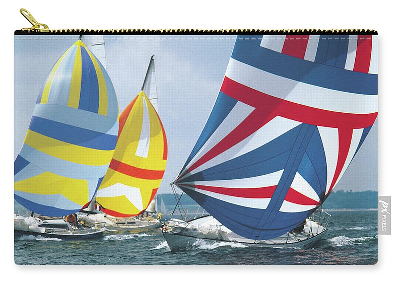 Wind Carry-all Pouch featuring the photograph Sailing Race by John Foxx